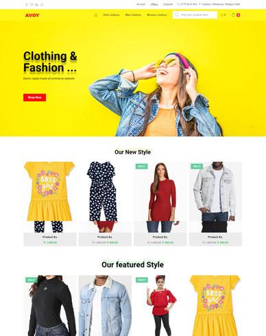 clothing & fashion business eCommerce website